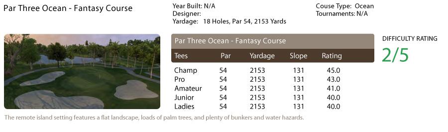 Par Three Ocean - Fantasy Course